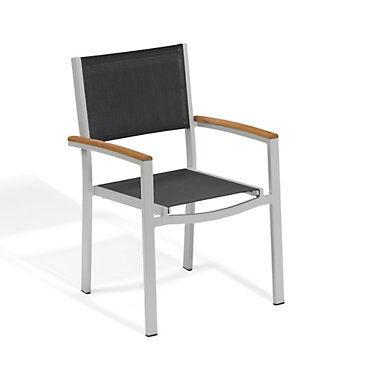 "Oxford Garden Travira Armchair Set of 4 by Oxford Garden - 33.5"" h x 21.5"" w x 22"" d - Wood/Polyester"