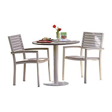 """Oxford Garden Travira 3-Piece Bistro Set with 32"""" Table by Oxford Garden - Wood - OXTRS12-5036"""