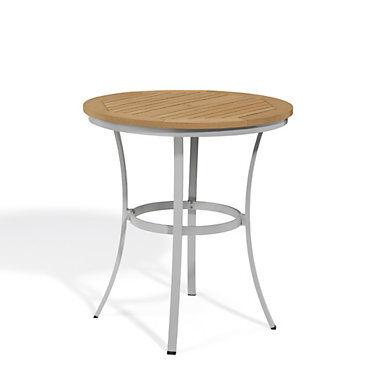 "Oxford Garden Travira 36"" Round Cafe Bar Table by Oxford Garden - 40"" h x 36.5"" w x 36.5"" d - Wood - OXTV36FB-RN"