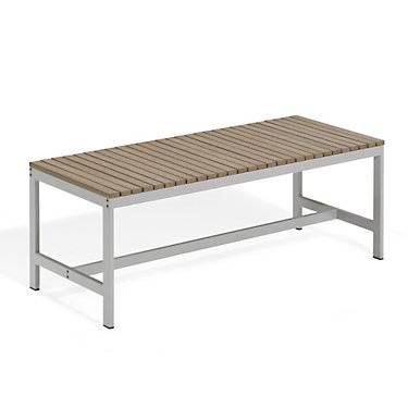 "Oxford Garden Travira 48"" Backless Bench by Oxford Garden - 18"" h x 19"" w x 48"" d - Wood - OXTVBB48-V"