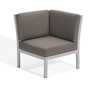 """Oxford Garden Travira Modular Corner Chair by Oxford Garden - 34.5"""" h x 32"""" w x 32"""" d - Acrylic - OXTVCNST-OXTVCNST"""