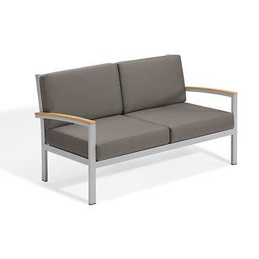 "Oxford Garden Travira Loveseat by Oxford Garden Chair - 34.75"" h x 61.5"" w x 32"" d - Wood/Acrylic - OXTVLS-VST"