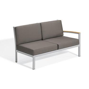 "Oxford Garden Travira Modular Loveseat Left by Oxford Garden Chair - 34.75"" h x 61.5"" w x 32"" d - Wood/Acrylic - OXTVLSL-NST"