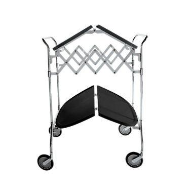 Kartell Gastone Folding Trolley - Black - Steel