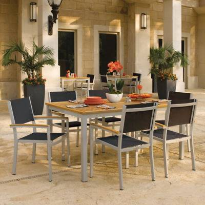 "Oxford Garden Travira 7-Piece Dining Set 63"" Dining Table by Oxford Garden - Wood/Polyester - OXTRS7-5102"