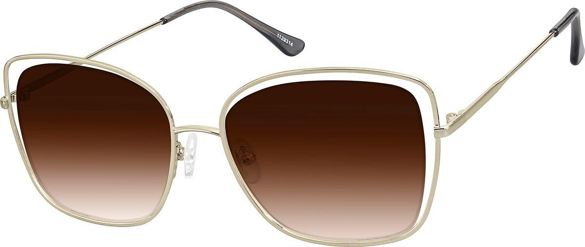 Zenni Optical Premium Square Sunglasses  - Gold