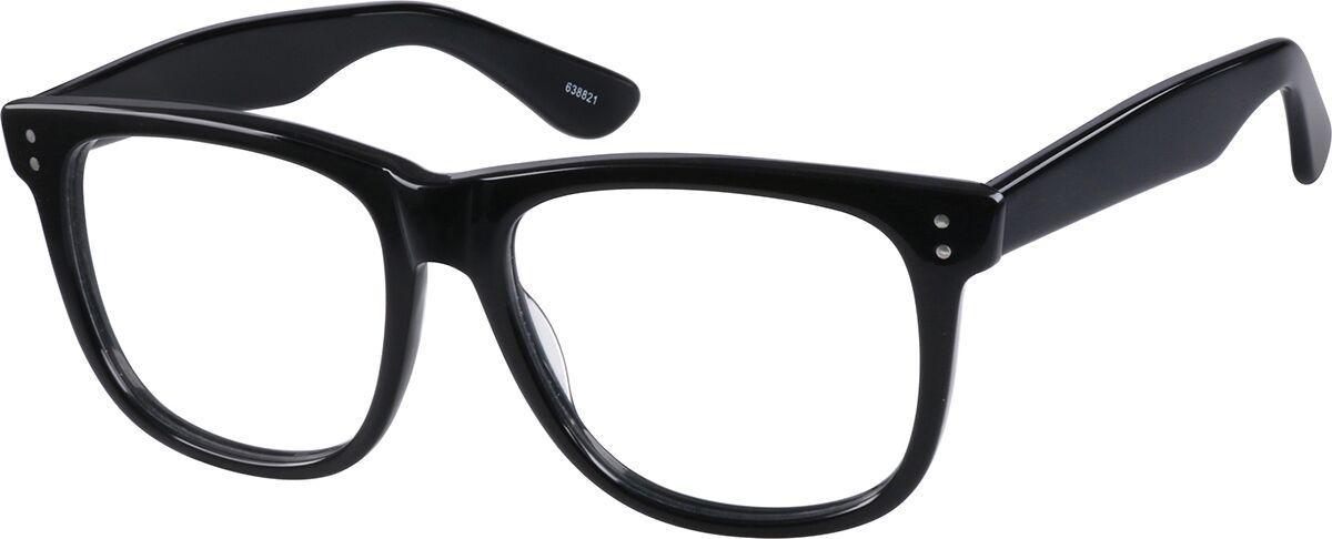 Zenni Optical Acetate Full-Rim Frame  - Black