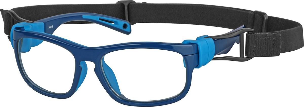 Zenni Optical Pre-Teens' Sport Protective Goggles  - Blue