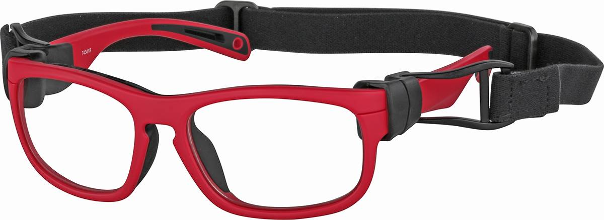 Zenni Optical Pre-Teens' Sport Protective Goggles  - Red
