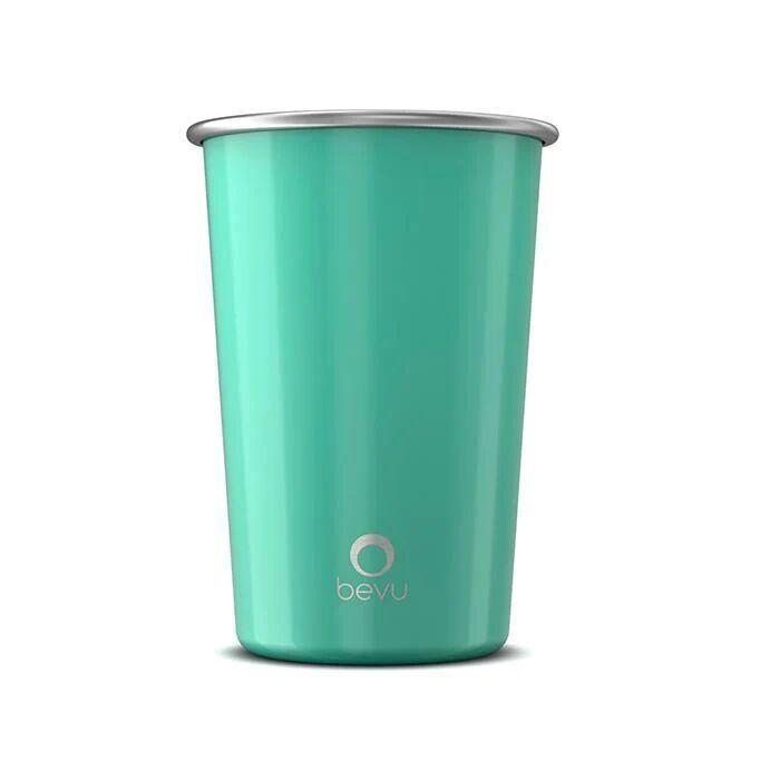 Chrysoberyl Bevu® Steel Cups Mint 470ml / 16oz.