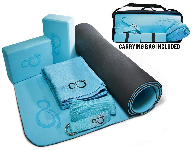 Purple Angel Complete 6 Piece Yoga Set & Carrying Case