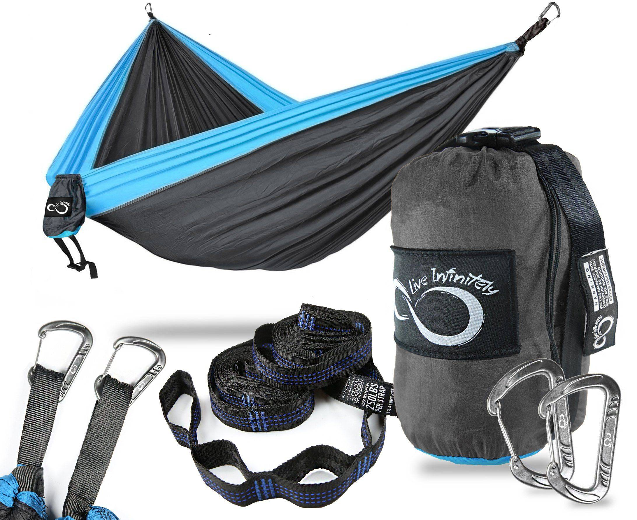 Purple Angel Double Camping Hammock With Upgraded Features