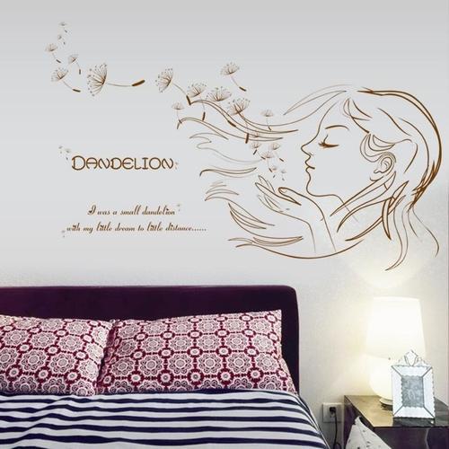 Magenta Angel Beautiful Girl Music Sticker 3d Kids Room