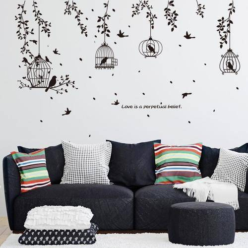 Magenta Angel Flower Bird Wall Decal Sticker Home Decor Mural