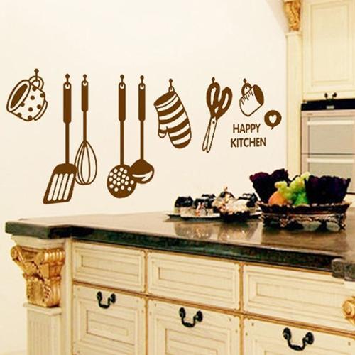 Magenta Angel 3D Effect Kitchen Tools Restaurant Wall Stickers