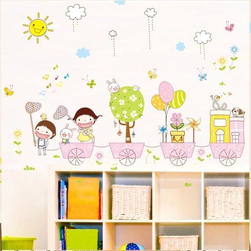 Magenta Angel Cute Cartoon Wall Sticker Wall Decor Kitchen