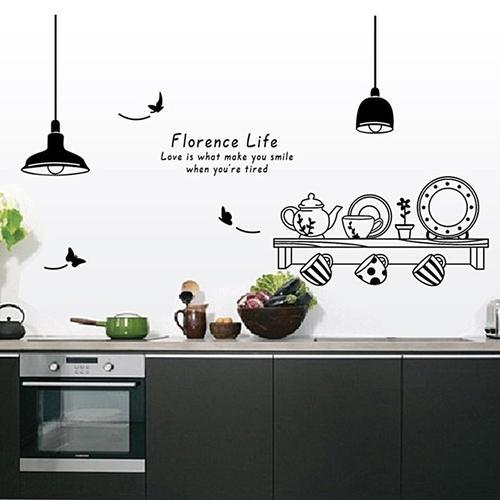 Magenta Angel Restaurant Kitchen Removable Wall Stickers DIY