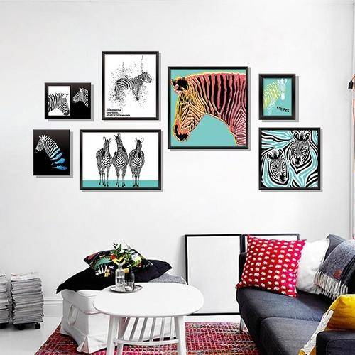Magenta Angel Creative Zebra Vinyl Wall Stickers Decor For Kids