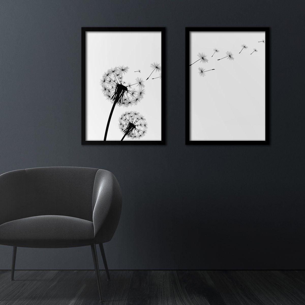 Silver Ares Dandelion Poster Set