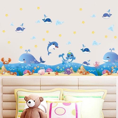 Magenta Angel Dolphin Fish  Ocean Deep Water Sea Home Decor Wall