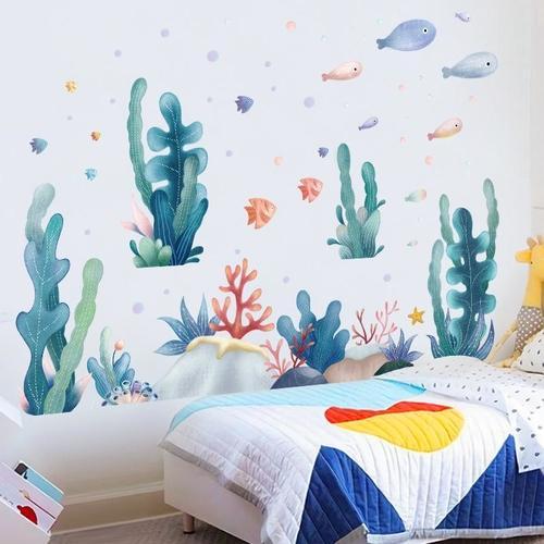 Magenta Angel Garden Plant Wall Stickers Home Decor Living Room