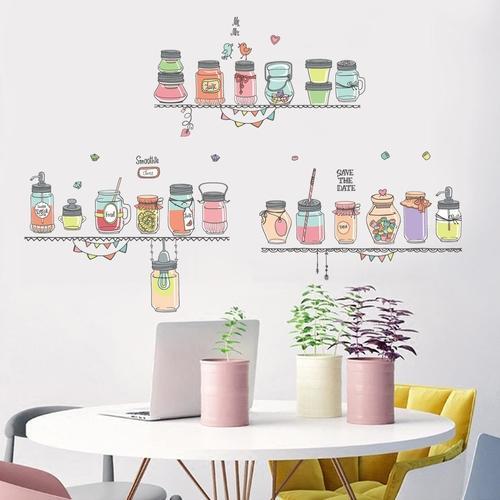 Magenta Angel Kitchen Wall Stickers Coffee Sweet Food DIY Wall
