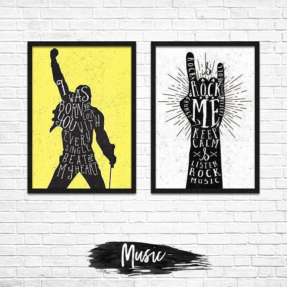 Silver Ares Music Poster Set