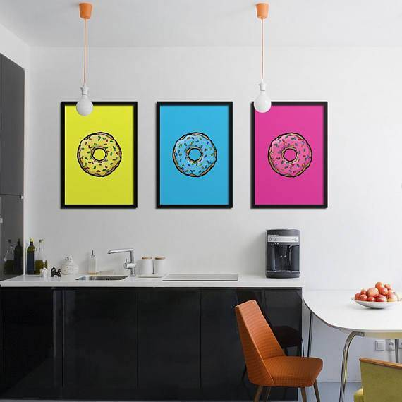 Silver Ares Donut Poster Set