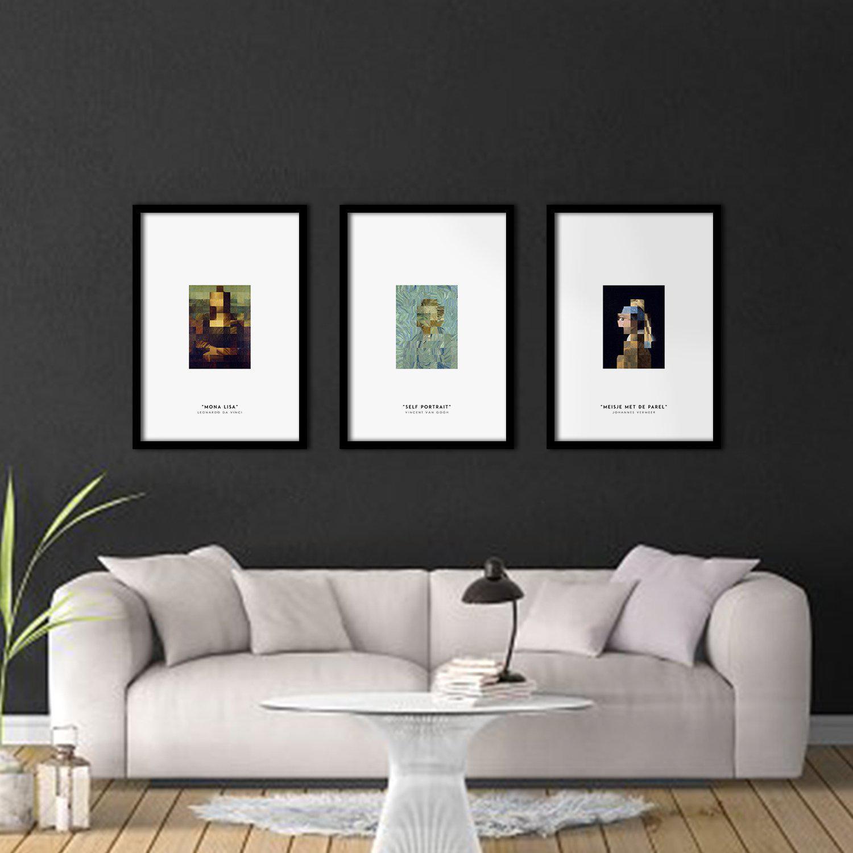 Silver Ares Pixel Art Poster Set