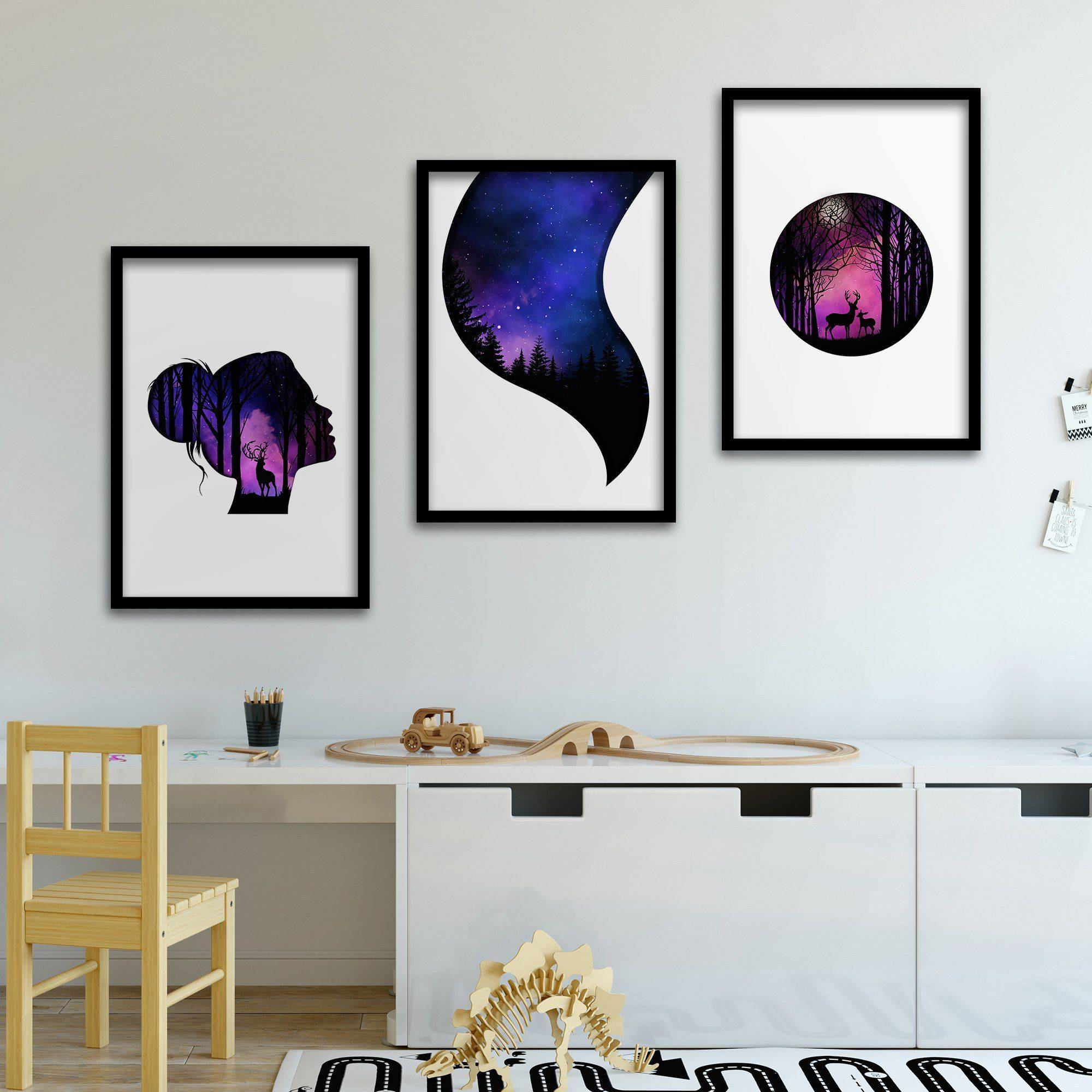 Silver Ares Purple Dream Poster Set