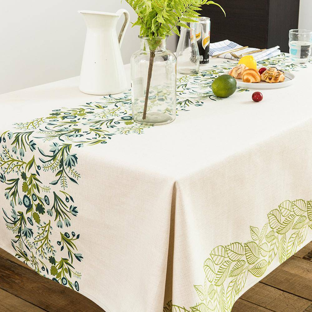 Purple Artemis Wild Green Indoor / Outdoor Tablecloth