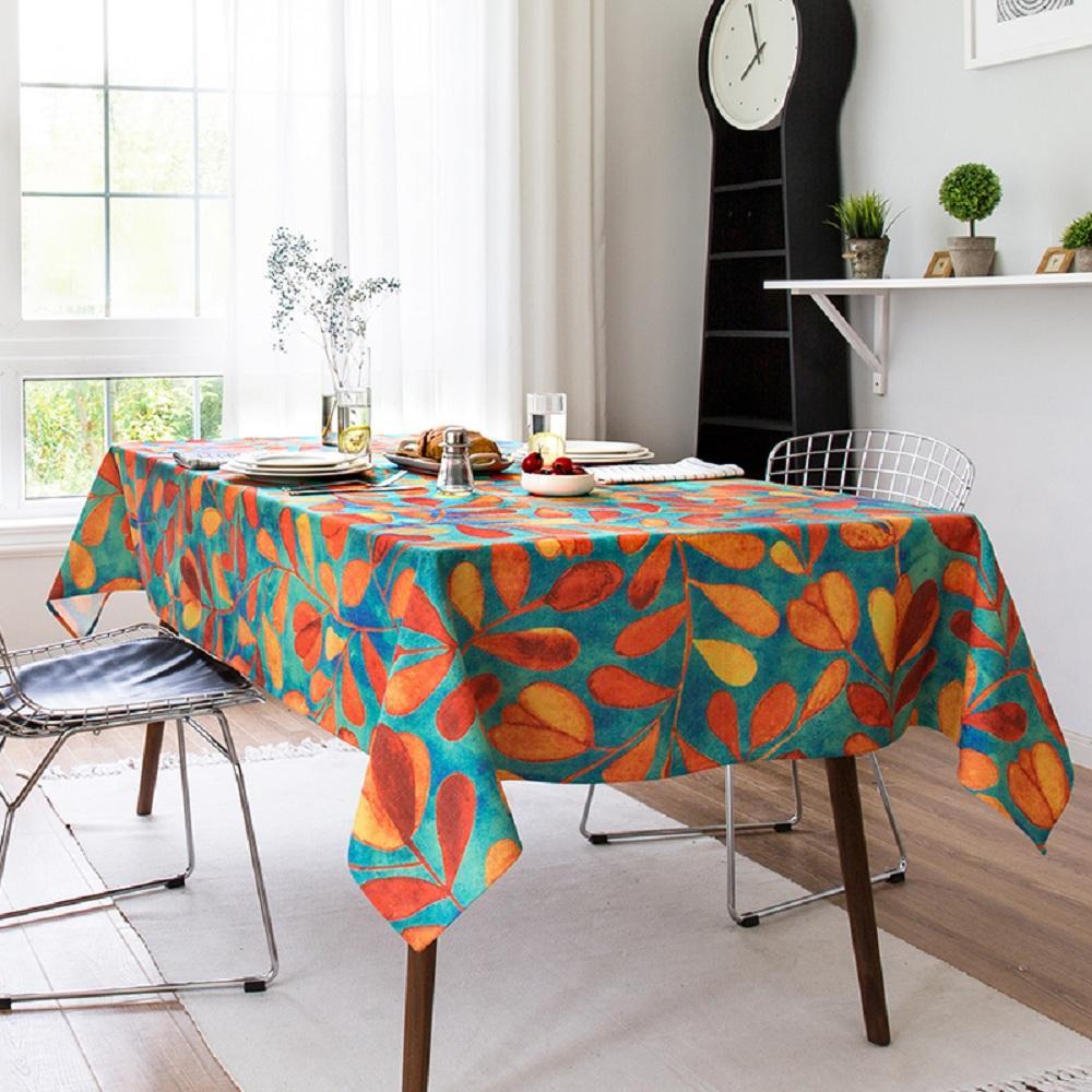 Purple Artemis Green Vine Indoor / Outdoor Tablecloth
