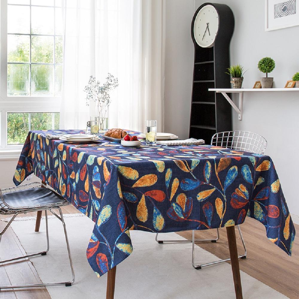 Purple Artemis Blue Vine Indoor / Outdoor Tablecloth