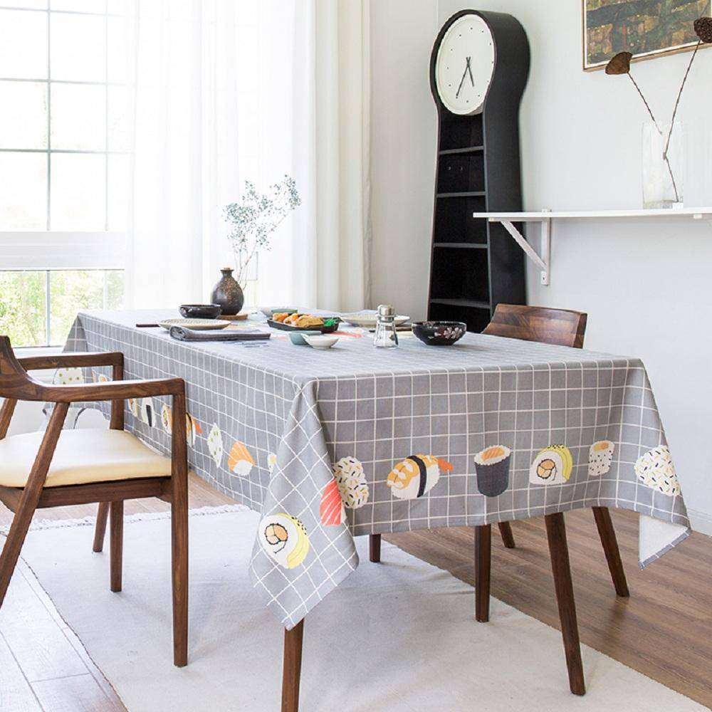 Purple Artemis Sushi Shop Indoor / Outdoor Tablecloth