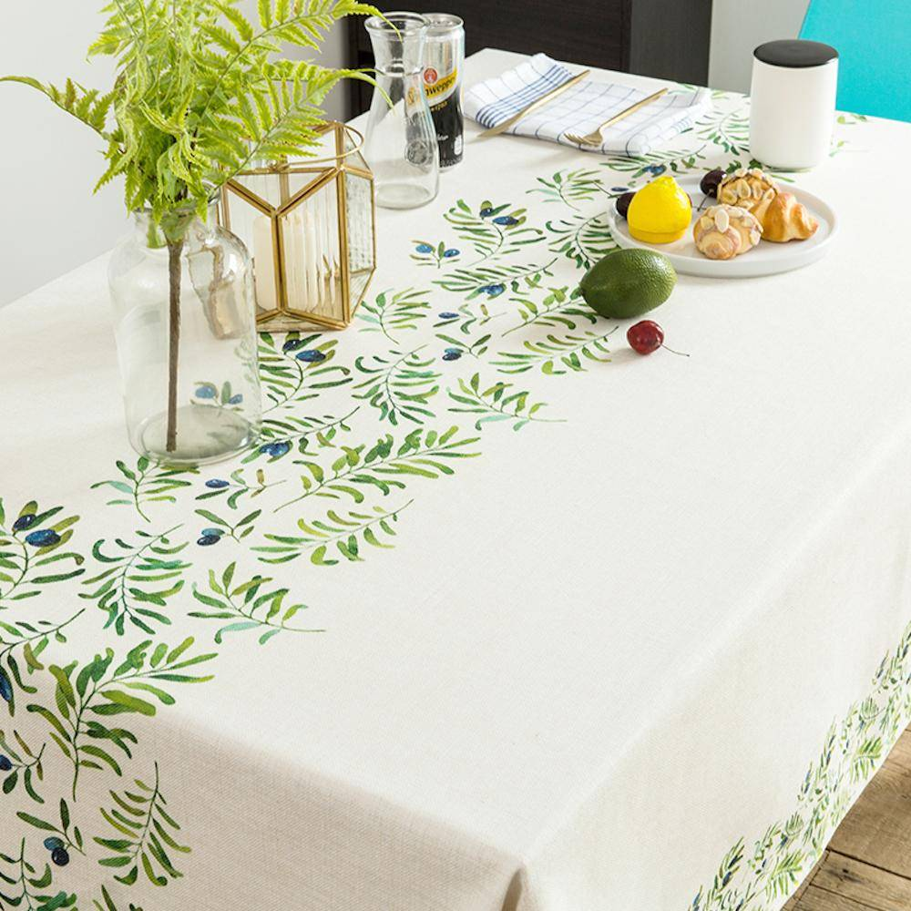 Purple Artemis Olive Leaves Indoor / Outdoor Tablecloth