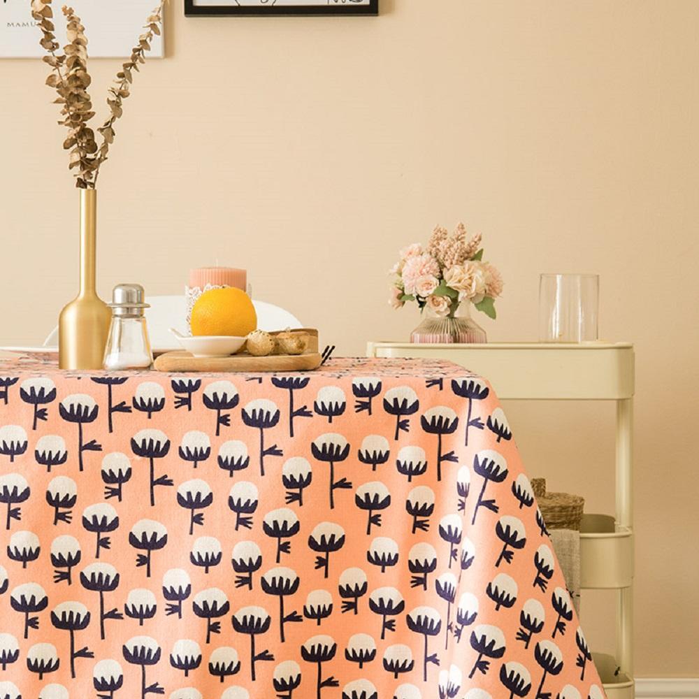 Purple Artemis Pink Cotton Indoor / Outdoor Tablecloth