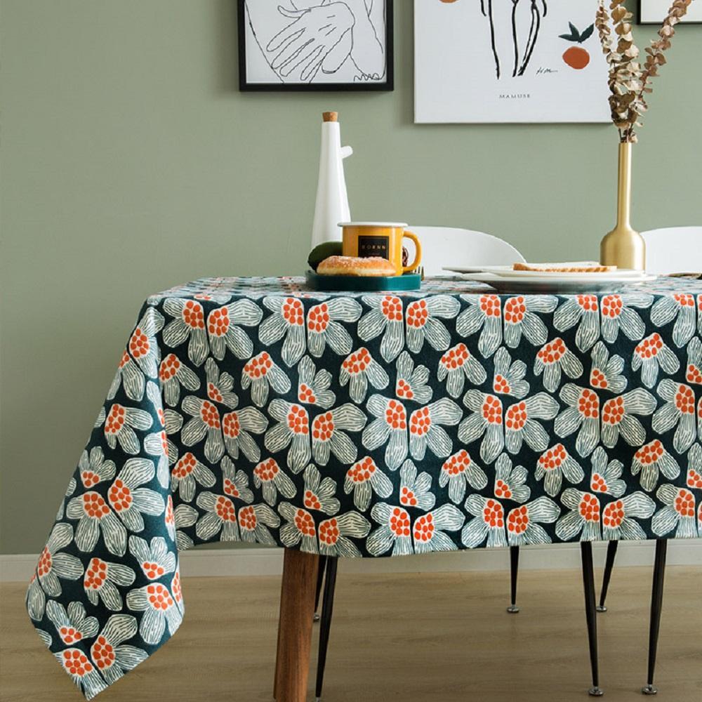 Purple Artemis Pomegranate flowers Indoor / Outdoor Tablecloth