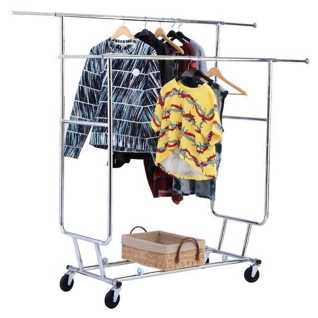 Silver Molly Commercial Grade Collapsible Clothes Hanger