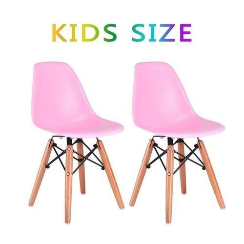 Silver Molly Set of 2 Kids Dining Side Chair Armless