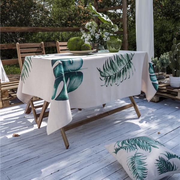 Purple Artemis Leaf Language Indoor / Outdoor Tablecloth
