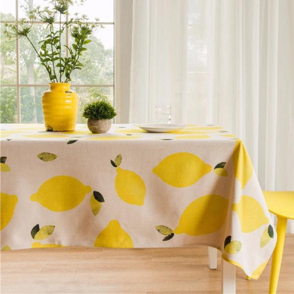 Purple Artemis Lemon Indoor / Outdoor Tablecloth
