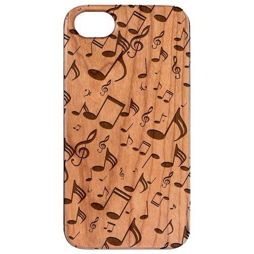 Sky Blue Cassandra Music Note Pattern Wood Phone Case