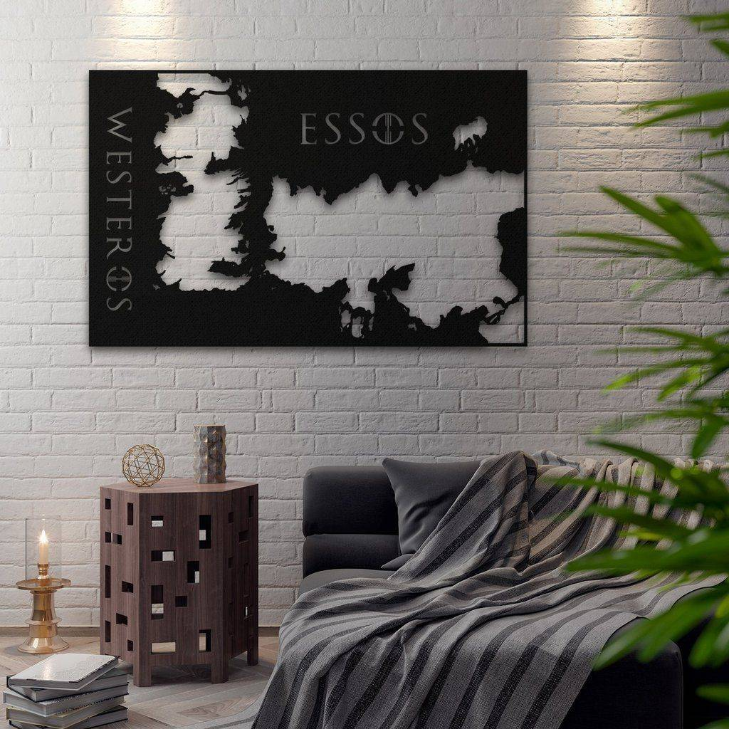 Silver Ares Map of Kingdoms Metal Map