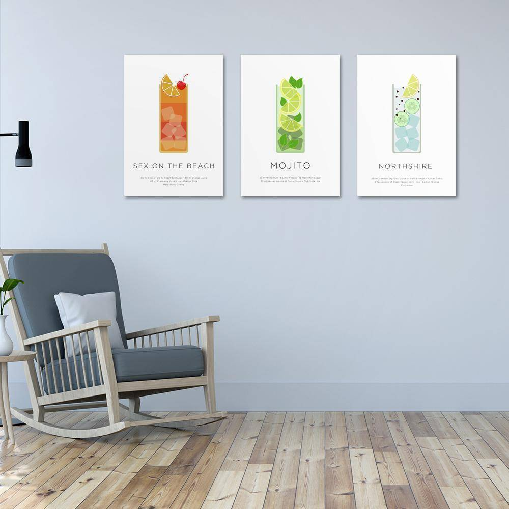 Silver Ares Cocktails Metal Poster