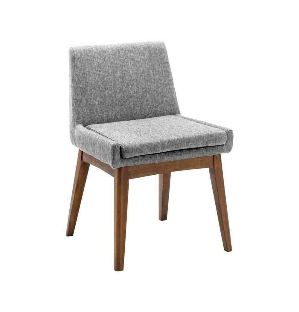 Azure Tiger Chanel Dining Chair - Pebble & Cocoa