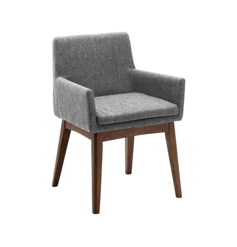 Azure Tiger Chanel Dining Armchair - Pebble & Cocoa