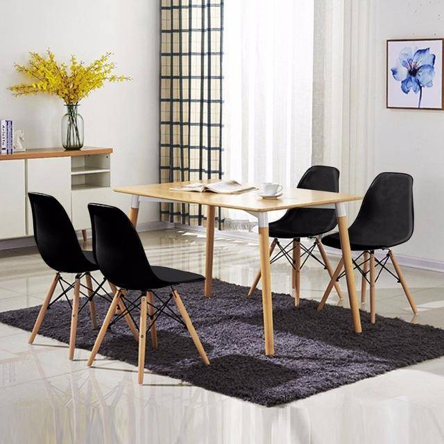 Silver Molly 4PCS Mid Century Modern Dining Side Chair