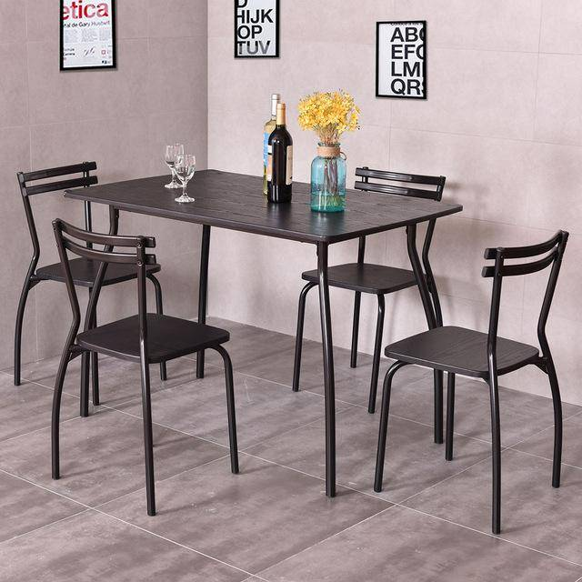 Silver Molly 5 Piece Dining Set Table and 4 Chairs