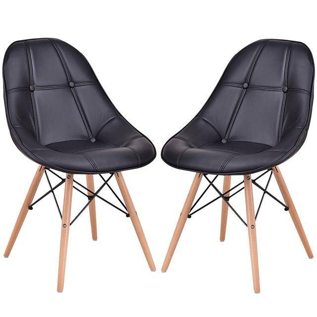 Silver Molly Set of 2 Dining Side Chair Modern Armless