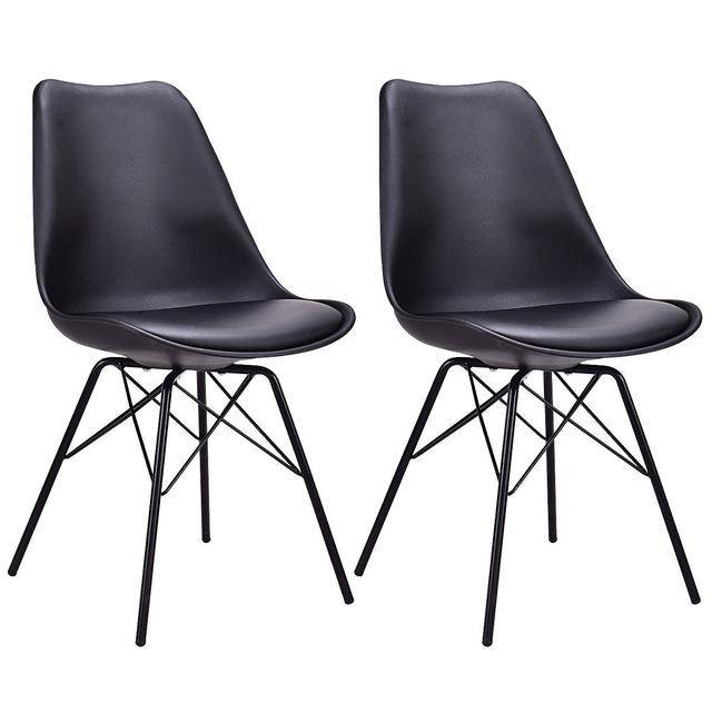 Silver Molly Set of 2pcs Dining Side Chair Upholstered